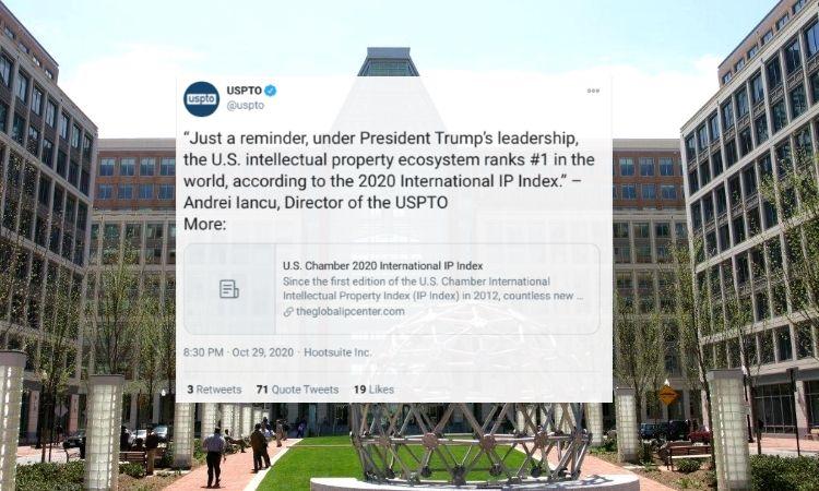 USPTO responds to concerns over 'Trump leadership' social media posts